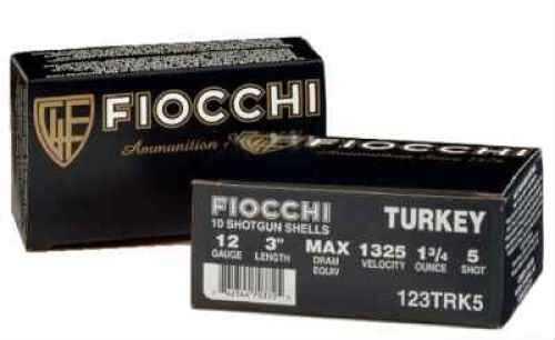 """Fiocchii Turkey 12 Ga. 3"""" 1 3/4 oz #6 Nickel Plated Lead Ammunition Md: 123TRK"""