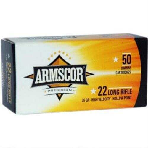 Armscor 22 Long Rifle (LR) 36 Grain Hollow Point Ammunition, 50 Rounds Per Box Md: 50015PH