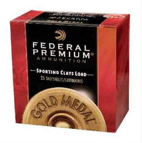 "Federal Cartridge Gold Medal Sporting Clay 12 Ga. 2 3/4"" 1 oz #8 1/2 Shot 25 Rounds Per Box Ammunition Case Price 250 SC17785"