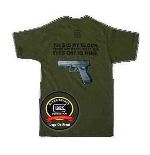Glock Short Sleeve 2X-Large Olive Drab T-Shirt Md: GA10005