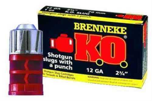 "Brenneke 12 Ga. 2 3/4"" 1 oz Knock Out Lead Sabot Slug 5 Rounds Per Box Ammunition Md: SL122KO"
