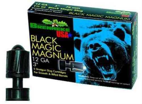"Brenneke 12 Ga. 3"" Black Magic Magnum 1 3/8 oz Lead Sabot Slug Ammunition Md: SL123BMM"