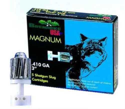 """Brenneke 410 Ga. 3"""" Magnum 1/4 oz Lead Sabot Slug 5 Rounds Per Box Ammunition Md: SL4103M"""