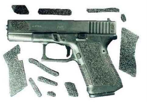 Decal Grip / Grupo Mercari Decal Grip Enhancer For Glock 20 Rubber/Black w/Finger Grooves Md: G20FGR