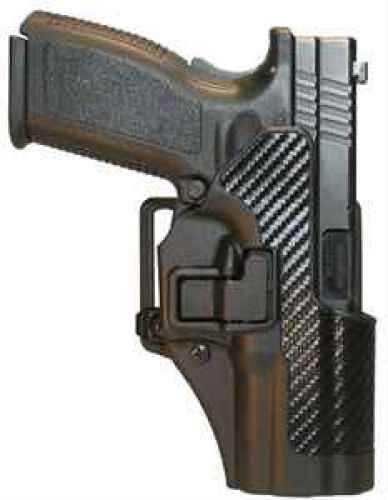BlackHawk Products Group Serpa CF, Belt & Paddle Holster, Plain Matte Black Finish Glock 19/23/32/36, Right Hand 410502BK-R