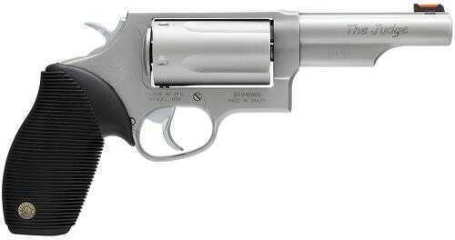 "Taurus Judge Tracker Exclusive 410 Gauge / 45 Long Colt  4"" Barrel 5 Round Fiber Optic Sight Rubber Grip Mss Revolver    2441049T"