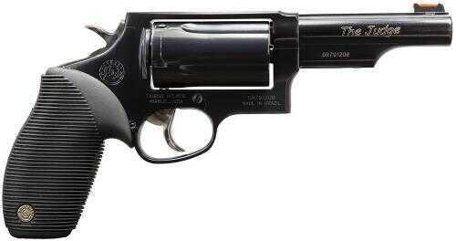 "Taurus Judge Tracker 410 Gauge / 45 Long Colt 4"" Barrel 5 Round Fiber Optic Sight Refurbished Revolver Z2441041T"