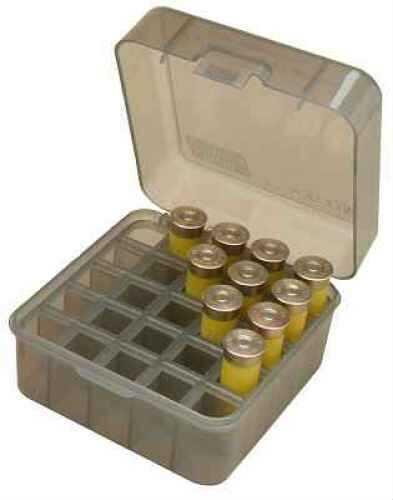"MTM Shotshell Box 25 Round Flip-Top 10 12 Gauge up to 3.5"" Clear Smoke S25-12M-41"