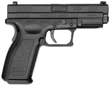 "Springfield Armory XD Service 45 ACP 4"" Barrel 10 Round Polymer Grip Black Semi Automatic Pistol XD9614SP06"