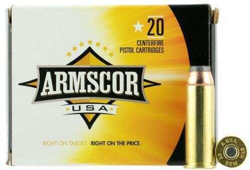 Armscor .44 Magnum 240 Grain Lead SWC Ammuniition, 20 Rounds Per Box Md: FAC44M2N