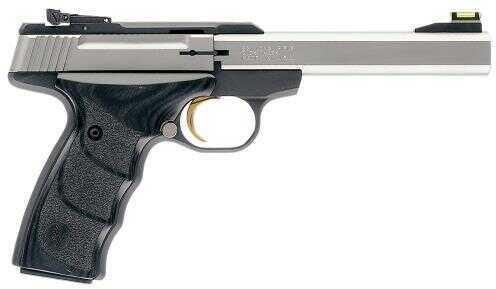 "Browning Buck Mark MS Plus Semi Automatic UDX 22 Long Rifle 5.5"" Barrel 10 Round Capacity Black Laminate Stainless Steel Pistol 051427490"
