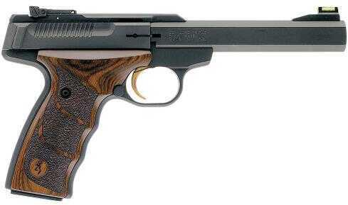 "Browning Buck Mark SE Plus UDX 22 Long Rifle Semi Automatic  5.5"" Barrel 10 Round Capacity  Brown Laminate Grip Matte Blued Pistol 051428490"