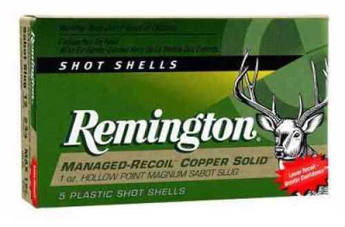 "Remington 12 Ga. 2 3/4"" 1oz Managed Recoil Copper Sabot Slug Ammunition Md: RL12CS"