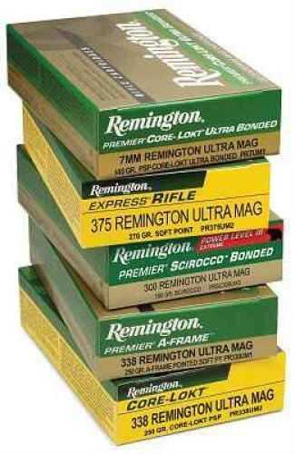 Remington 300 Ultra Mag 180 Grain Premier Core-Lokt Ultra Bonded Ammunition Md: PR300UM2P2