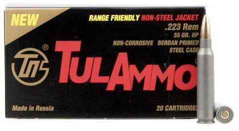 Tulammo Ta223557 Centerfire Rifle 223 Remington/5.56 Nato 55 Grains Hollow Point 20 Box