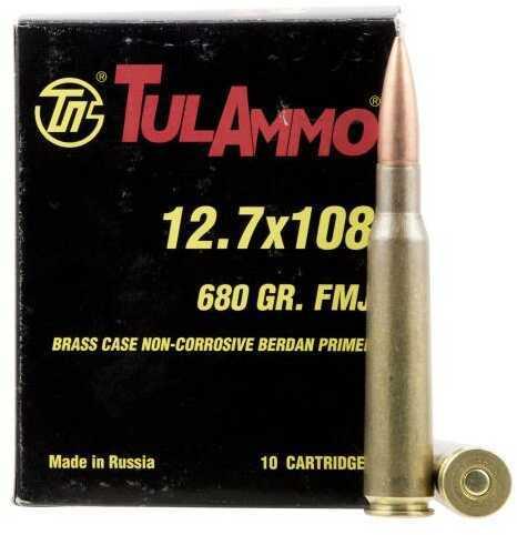 Tulammo Ta127101 Centerfire Rifle 12.7x108mm 680 Grains Full Metal Jacket 10 Bx/ 6 Cs