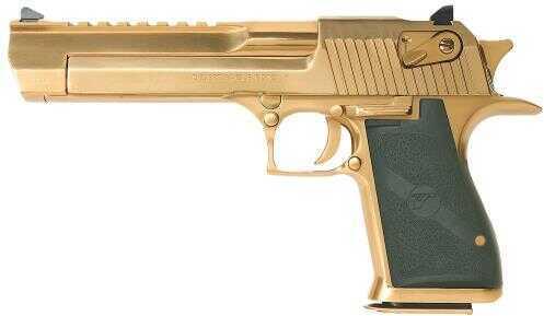 "Magnum Research Desert Eagle Mark XIX 44 Magnum 6"" Barrel 8 Round Single Action Ramp Style Front Sight Drift Adjustable Rear Sight Black Synthetic Grip Titanium Gold Semi Automatic Pistol DE44TG"