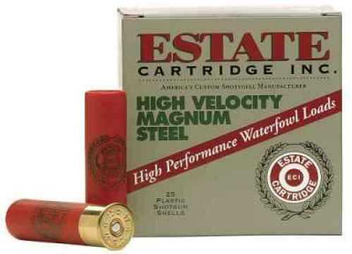 "Estate Cartridge High Velocity Magnum Steel 12 Ga. 2 3/4"" 1 1/4 oz #4 Shot 25 Rounds Per Box Ammunition Case P HVST12SM"