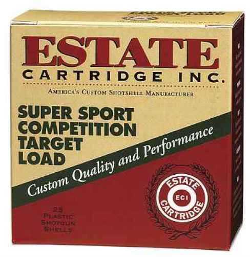 "Estate Cartridge Super Sport Target 12 Ga. 2 3/4"" 1 1/8 oz #8 Lead Shot25 Rounds Per Box Ammunition Case Price SS12H"