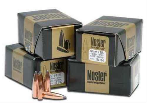 Nosler 6mm/243 Caliber 85 Gr Spitzer Partition (Per 50) 16314