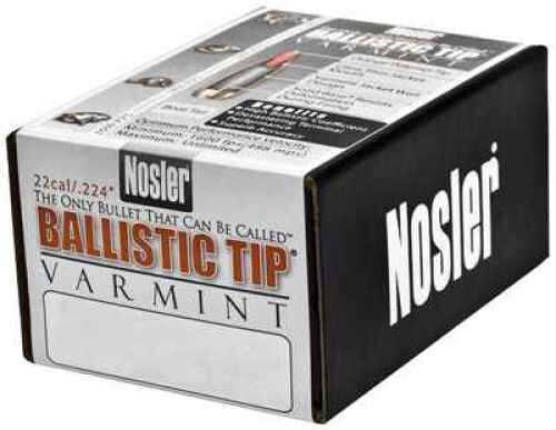 Nosler 22 Caliber (.224) 40 Gr Spitzer Ballistic Tip Varmint (Per 100) 39510