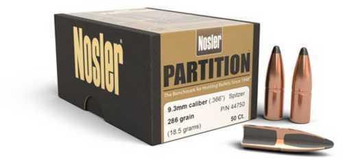 Nosler Partition Spitzer 9.3MM Cal 286 Grain 50/Box 44750
