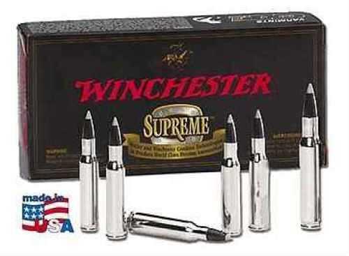 Winchester Supreme 375 H&H Mag 300 Grain Nosler Solid Bullet 20 Rounds Per Box Ammunition Md: S375SL S375SLS