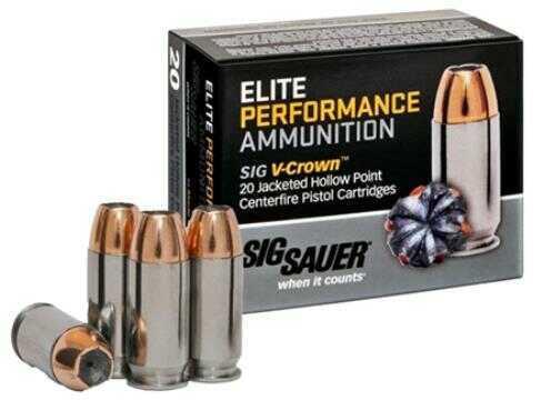 Sig Sauer E45AP150 V-Crown 45 Automatic Colt Pistol (ACP) 200 GR Jacketed Hollow Point 20 Bx/ 50 Cs