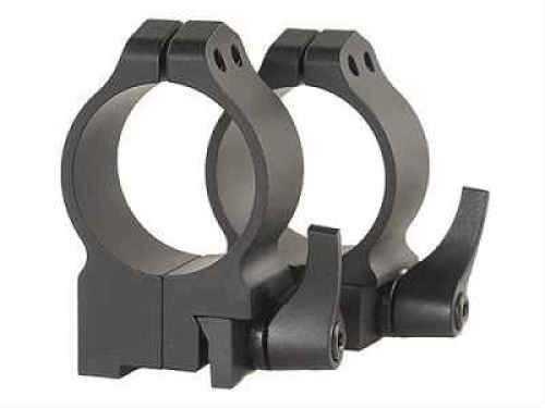 Warne 30mm High Quick Detach Matte Black Rings For Ruger 77 15R7LM
