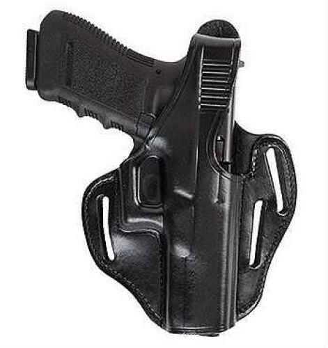 Bianchi Right Hand Black Leather Belt Holster For Colt Govenment Md: 24098