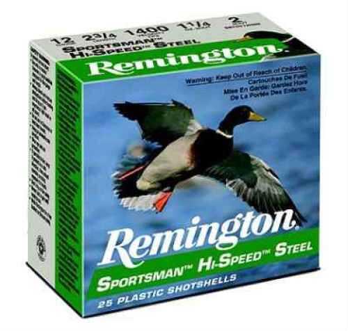 "Remington Sportsman 12 Ga. 2 3/4"" 1 1/8 oz #2 Steel Shot 25 Rounds Per Box Ammunition Md: SST12S2 Case Price 2 SST12S2"