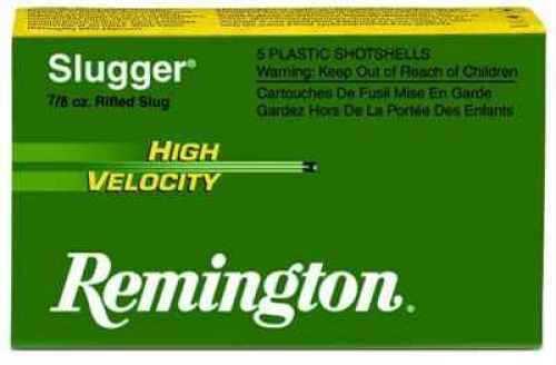 "Remington 12 Ga. 3"" 7/8 oz Lead Slug 5 Rounds Per Box Ammunition Md: SPHV12MRS"