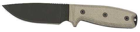 "Queen Cutlery/Ontario K OKC RAT-3 Knife Fixed 3.75"" 1095 Carbon Steel Drop Point Plain Tan Micarta Handle 8630"