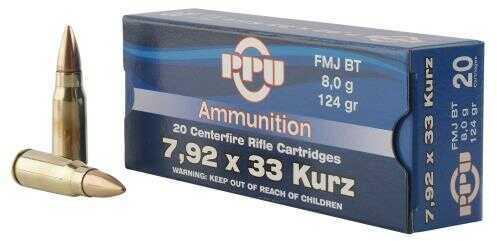 Prvi Partizan 7.9X33mm Kurz 124 Grain Full Metal Jacket 20 Box Ammunition