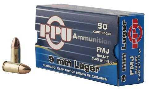 Prvi Partizan 9mm Luger 115 Grain Full Metal Jacket 50 Box Ammunition