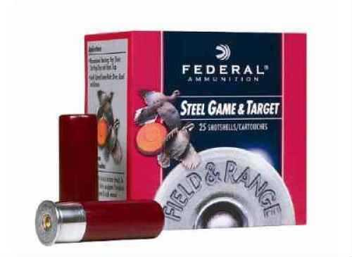 "Federal Cartridge Field & Range 12 Gauge 2 3/4"" 1 oz. #6 Steel Shot 25 Rounds Per Box Ammunition Md: FRS126 Case Price 2 FRS126"