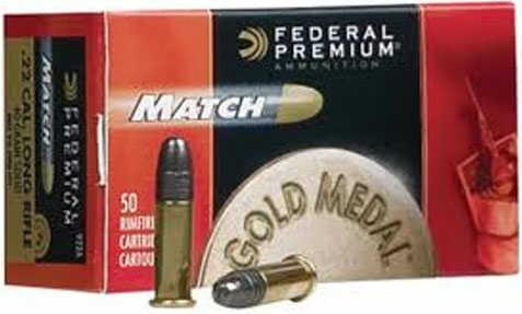 Federal Premium Match 22LR 40 Grain Lead Round Nose 50 Round Box 922A