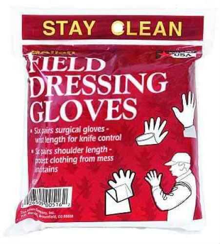 Allen Cases Allen Field Clear Dressing Gloves Size 6 Md: 516