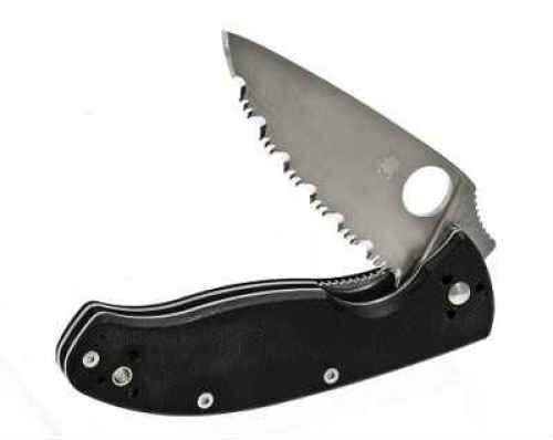 Spyderco Tenacious Black Folder Knife With G10 Handle Md: C122GS