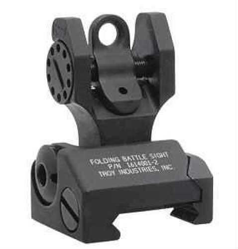 Troy Industries Rear Battle Sight Black, Folding SSIG-FBS-R0BT-00