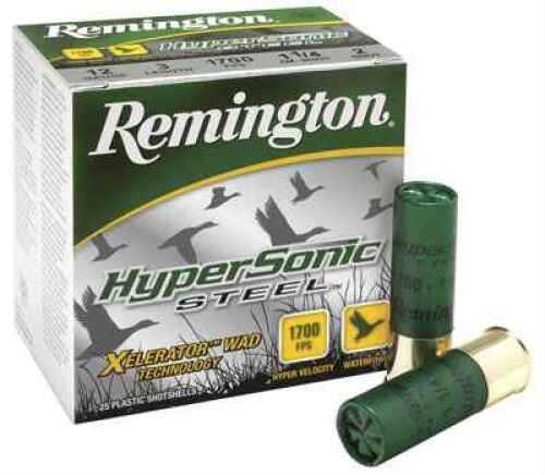 "Remington Hypersonic 3"" #1 1 1/4 Steel 12 GA 1700 FPS Per 25 Ammunition Case Price 250 Rounds HSS12M1"