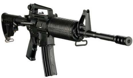 "DPMS Panther AP4 223 Remington /5.56 NATO Semi Auto Carbine Rifle With Miculek Compensator A2 Front Sight AP4 Stock 16""Barrel 10+1 Rounds Synthetic Stock Black RFA2AP4PMC"