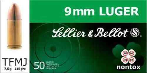 Sellier & Bellot 9mm Luger 115 Grain FMJ Pistol Ammunition V311552U