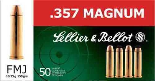 Sellier & Bellot 357 Remington Magnum158gr FMJ ammunition Md: V311102U