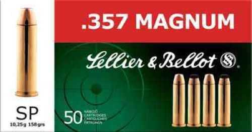 357 Mag 158 Grain Soft Point 50 Rounds Sellier & Bellot Ammunition Sb357B