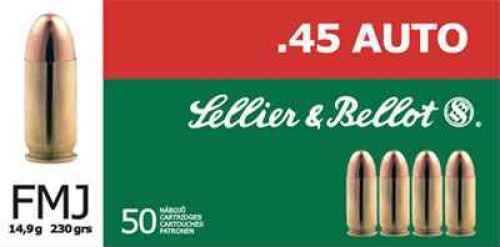 Sellier & Bellot 45 GAP FMJ 230gr Ammo Ammunition V311452U
