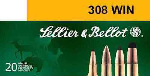 Sellier & Bellot .308 WIN FMJ 180gr. Ammo Ammunition V331422