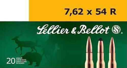 Sellier & Bellot 7.62mmX54mm Russian BTH 174gr. Ammo Ammunition V332472U
