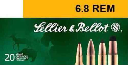 Sellier & Bellot 6.8mm REM Barnes Triple Shock X-Bullet 110gr. Ammo Ammunition V332682U