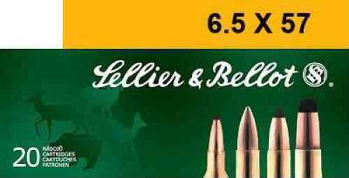 MagTech Ammunition Co. Magtech SELLIER & BELLOT 6.5mmX57R Soft Point 131 GR 20Box/20Case V330622U